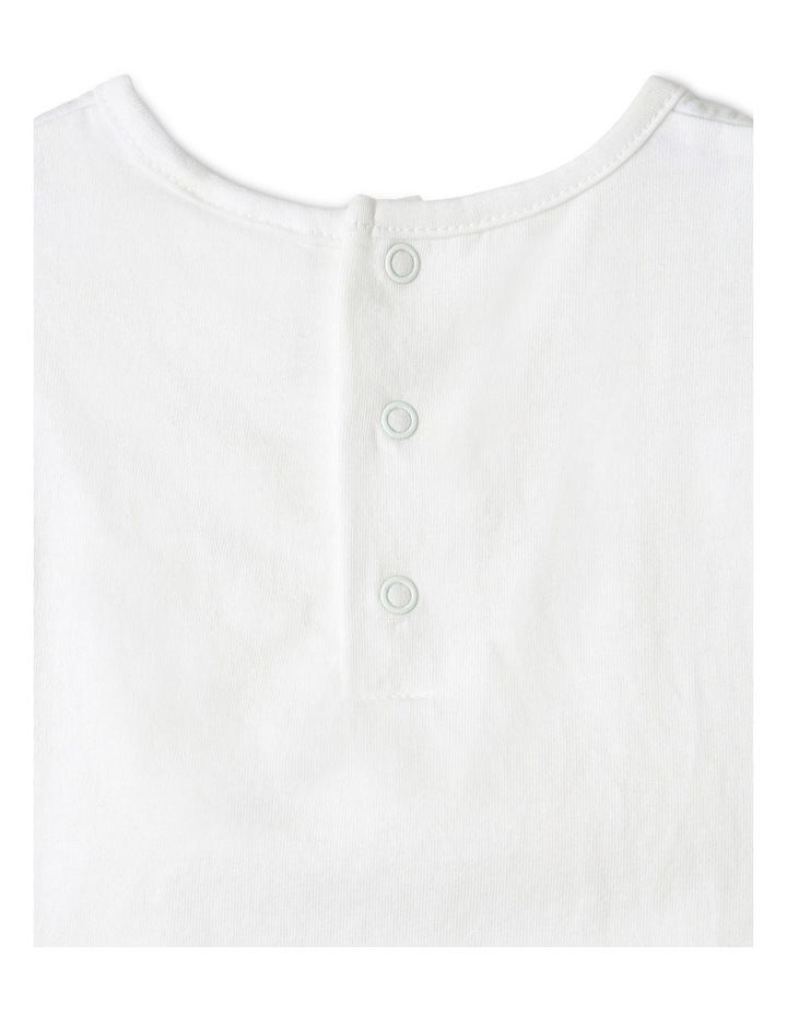 Broderie Tee and Short Set in White image 7