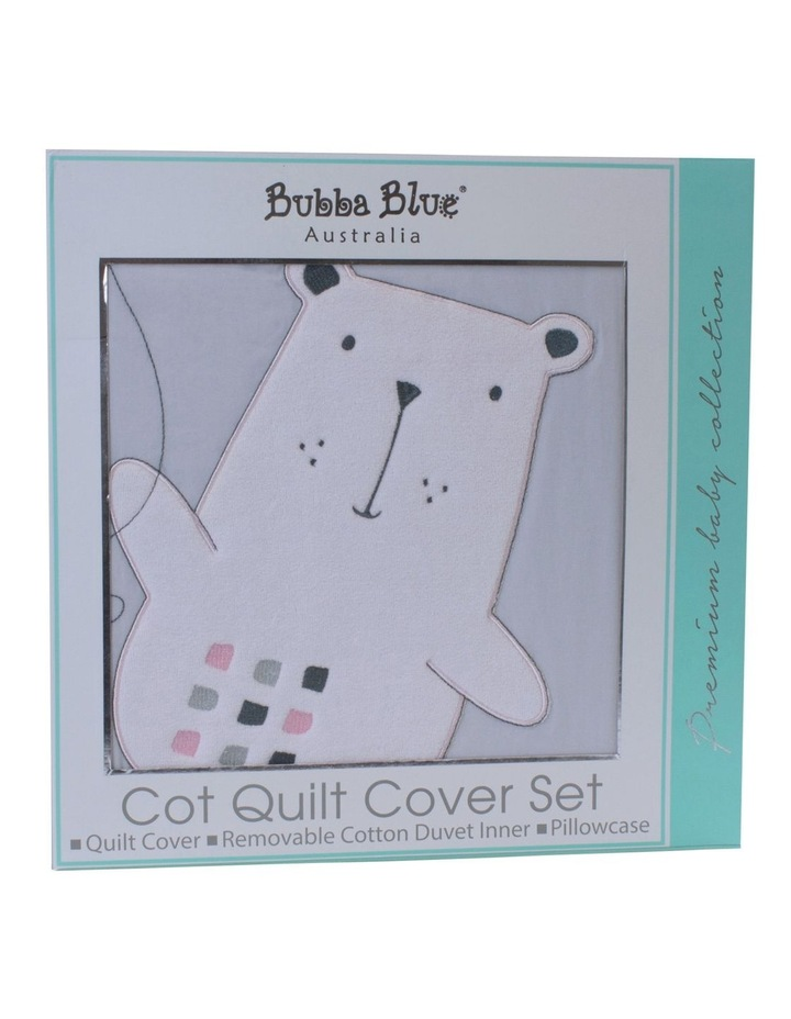 """Beary Sweet"" Cot Quilt Cover Set image 2"
