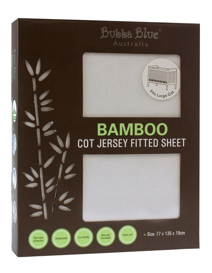 Bamboo Jersey Cot Fitted Sheet image 1