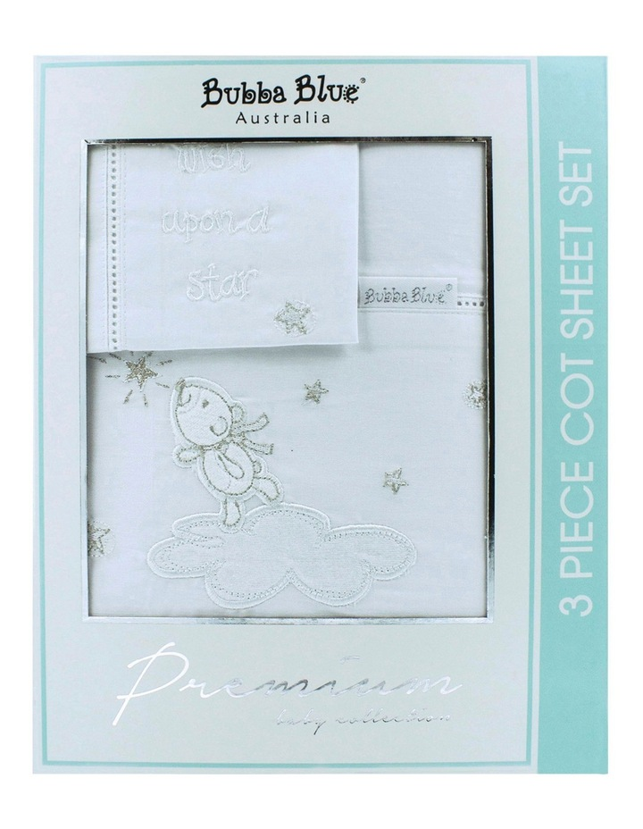 Wish Upon A Star 3 Piece Cot Sheet Set image 1