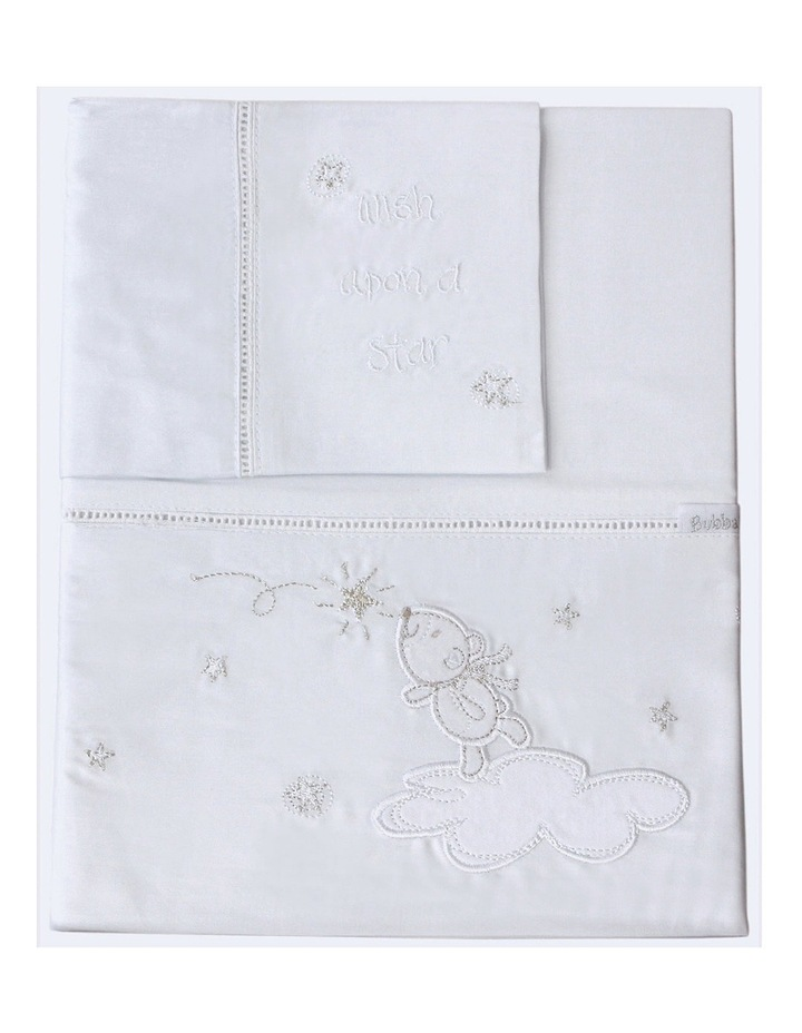 Wish Upon A Star 3 Piece Cot Sheet Set image 3
