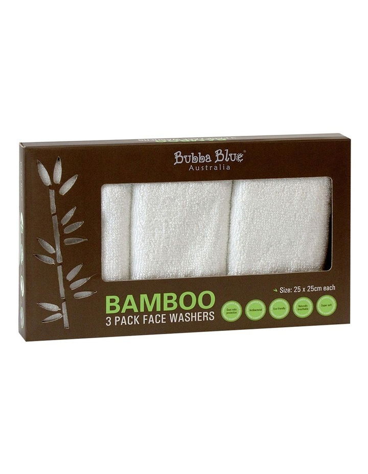 Bamboo 3 Pack Face Washer image 1