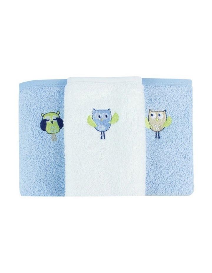 Boy Owl Face Washers 3PK image 1