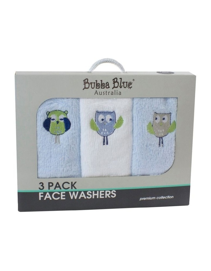 Boy Owl Face Washers 3PK image 1