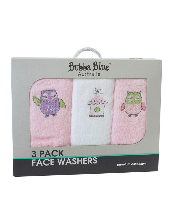 Girl Owl Face Washers 3PK image 1