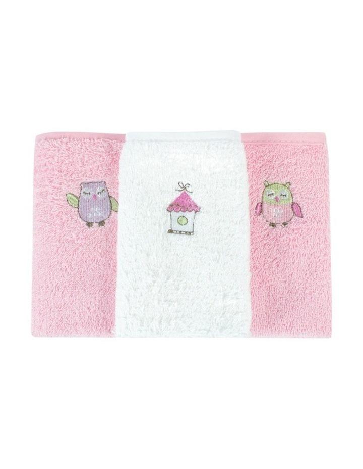 Girl Owl Face Washers 3PK image 2