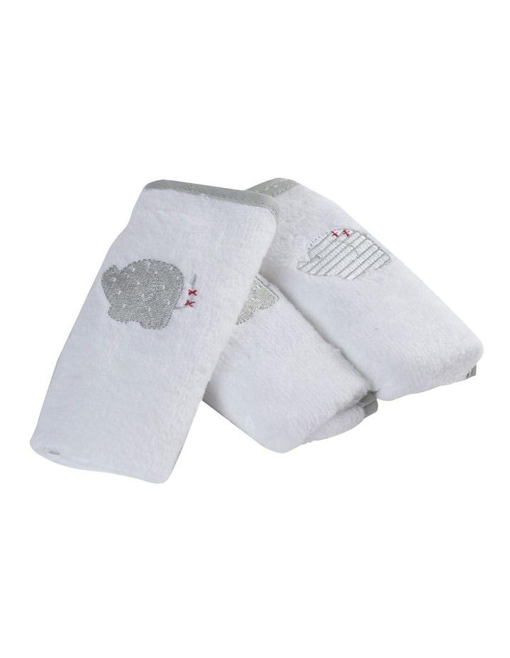 Petit Elephant 3 Pack of Face Washers image 2