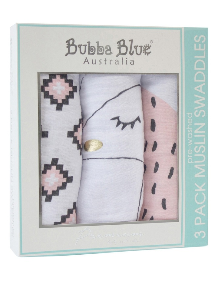 3 Pack Muslin Wraps image 1