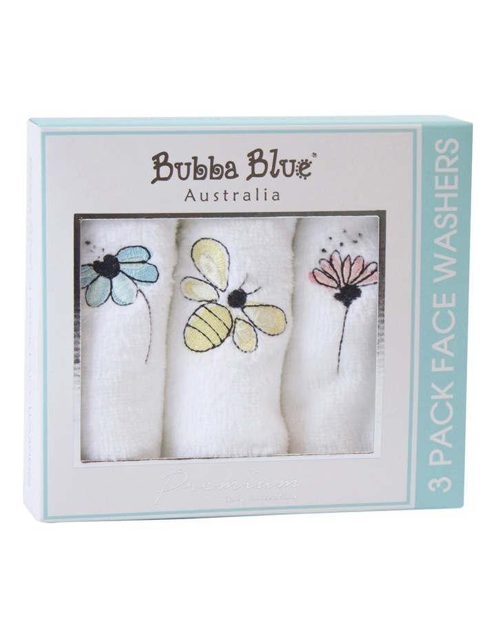 Bee Beautiful 3 pack face washers image 1