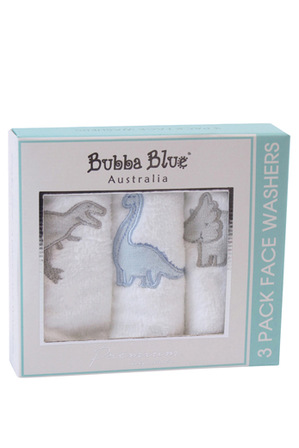 Bubba Blue - Jurassic 3 pack face washers
