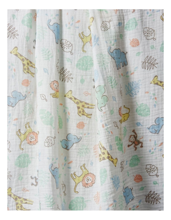 Muslin 1Pk Prints - Jungle Mates image 2