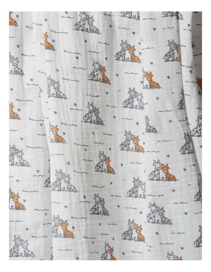 Muslin 1Pk Prints - Giraffe Friends image 2