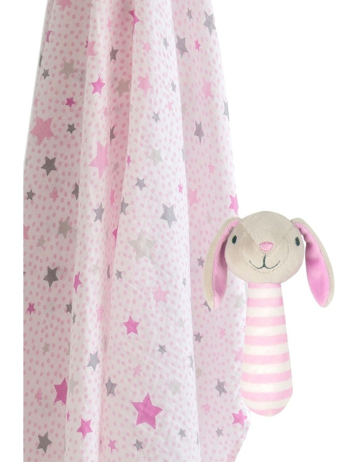 Muslin Wrap & Crinkle Toy - Pink Bunny image 1