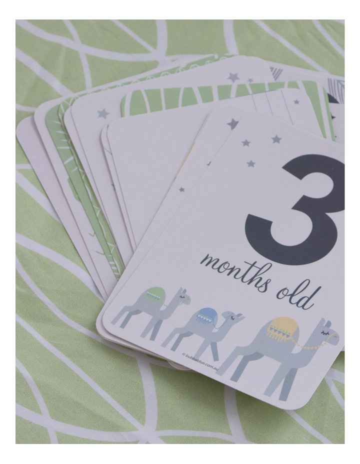 """""""Sahara"""" 2pk Muslin Wraps with Milestone Cards image 2"""