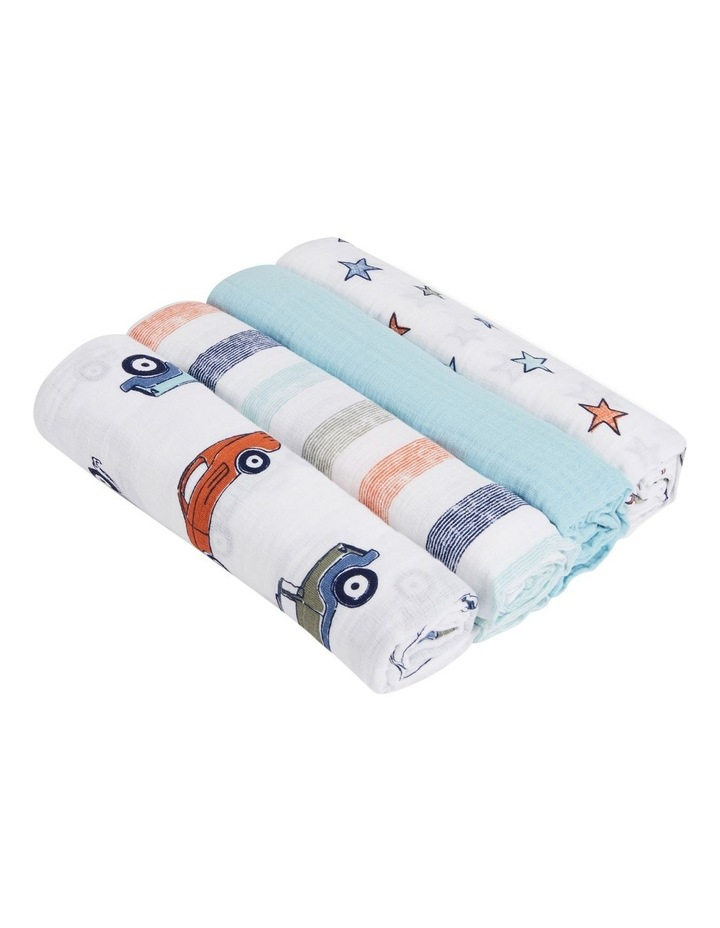 Hit The Road Muslin Swaddles 4-Pk image 2