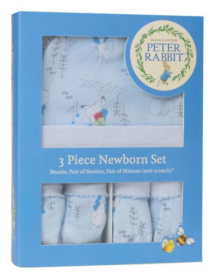 """Peter Rabbit"" Linear Meadow 3 piece Newborn Layette GIft Set image 1"