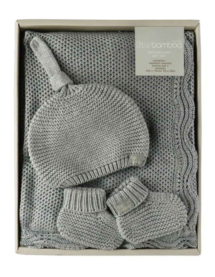 Textured Knit Gift Set - Marl Grey image 1
