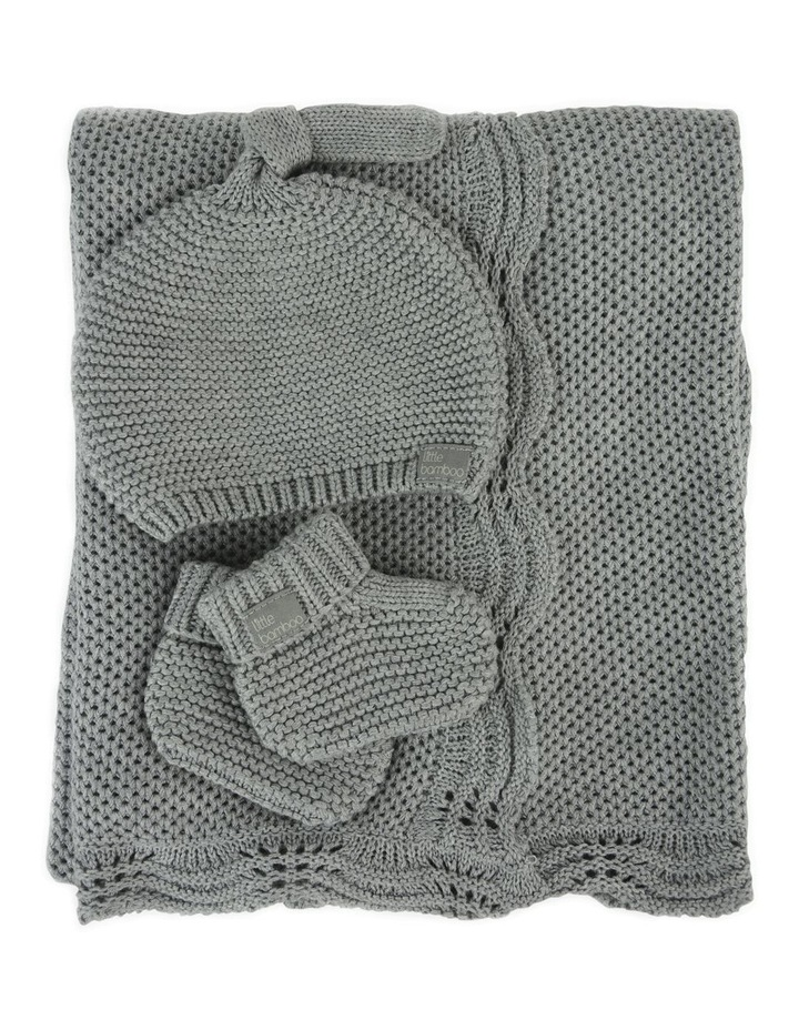 Textured Knit Gift Set - Marl Grey image 2