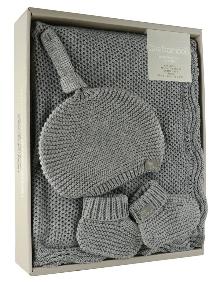 Textured Knit Gift Set - Marl Grey image 3