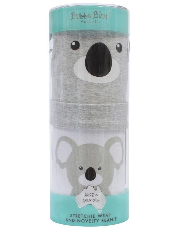 Koala Swaddling Stretchie & Novelty Beanie Set image 1