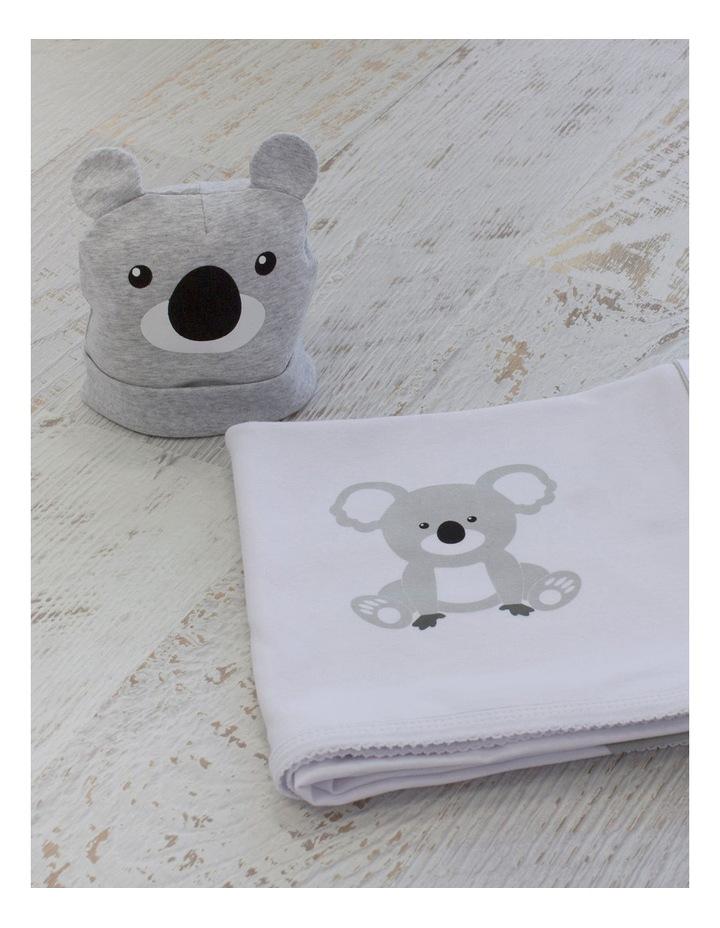Koala Swaddling Stretchie & Novelty Beanie Set image 3