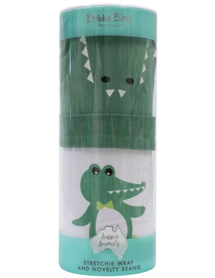 Crocodile Swaddling Stretchie & Novelty Beanie Set image 1