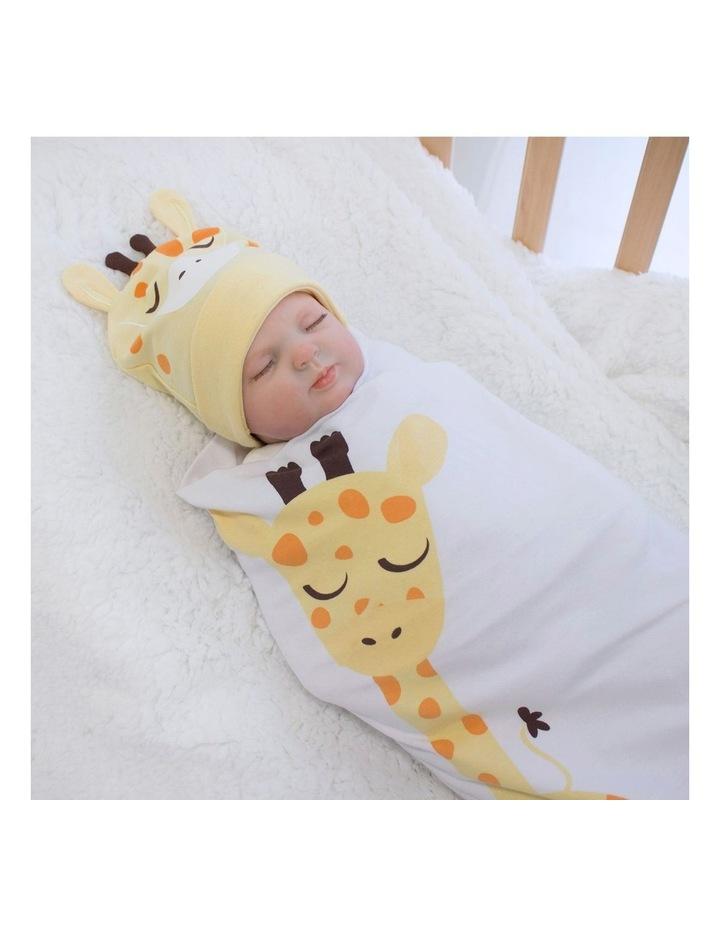 Giraffe Swaddling Stretchie & Novelty Beanie Set image 3