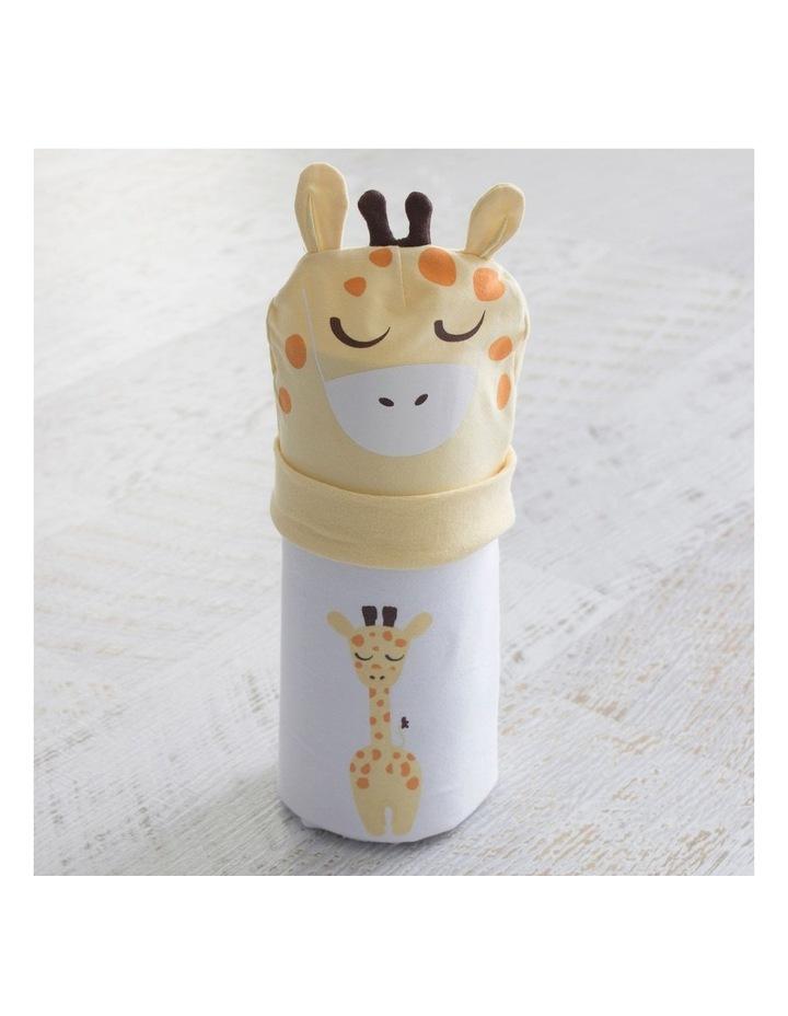 Giraffe Swaddling Stretchie & Novelty Beanie Set image 4