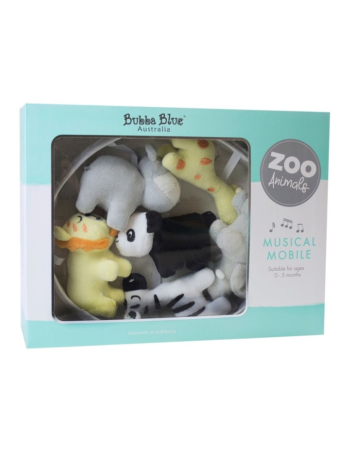 Bubba Blue Zoo Animals Musical Mobile & Room Thermometer