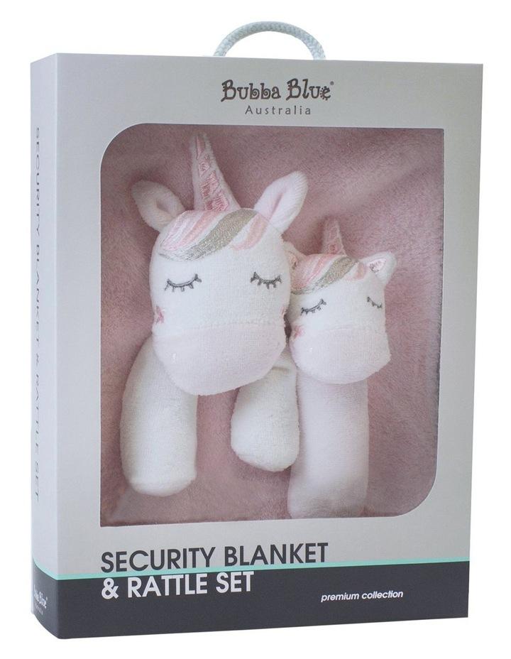 Unicorn Magic Security Blanket & Rattle Set image 1