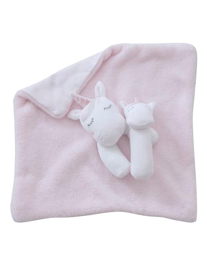 Unicorn Magic Security Blanket & Rattle Set image 2
