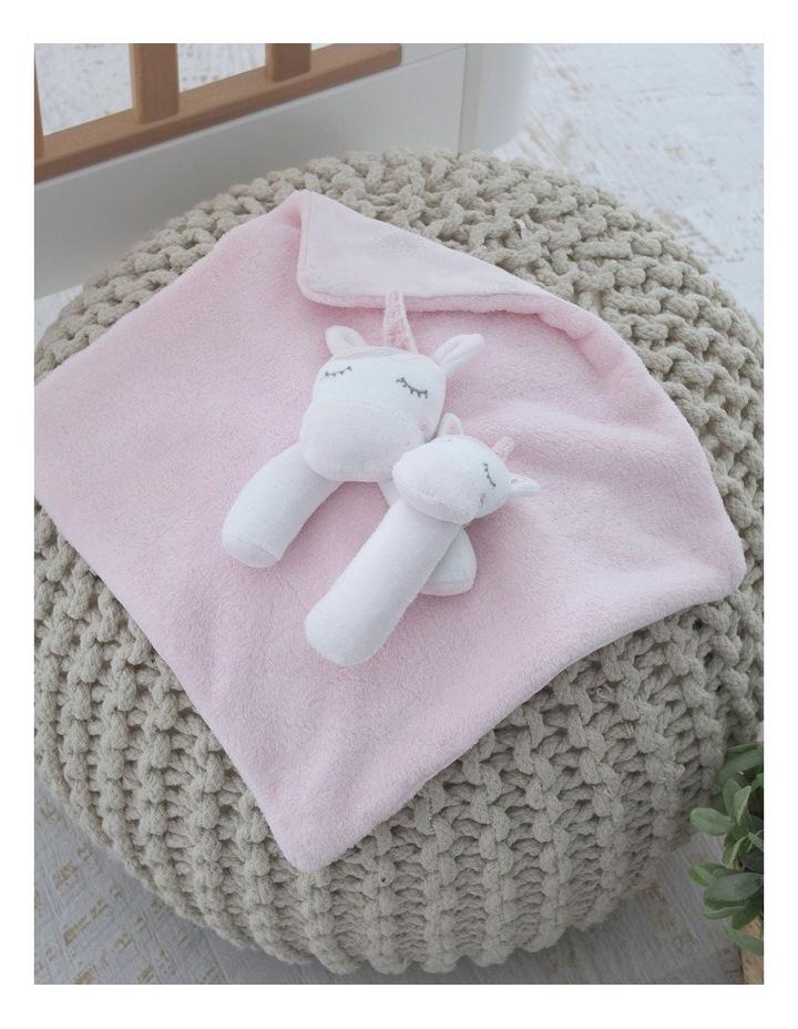 Unicorn Magic Security Blanket & Rattle Set image 3