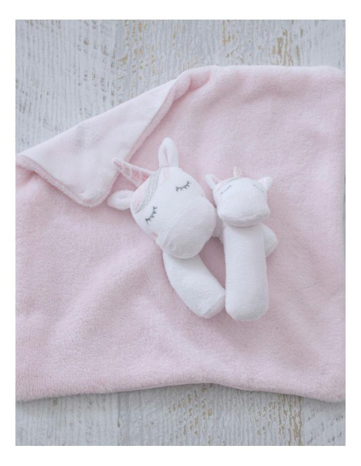 Unicorn Magic Security Blanket & Rattle Set image 4