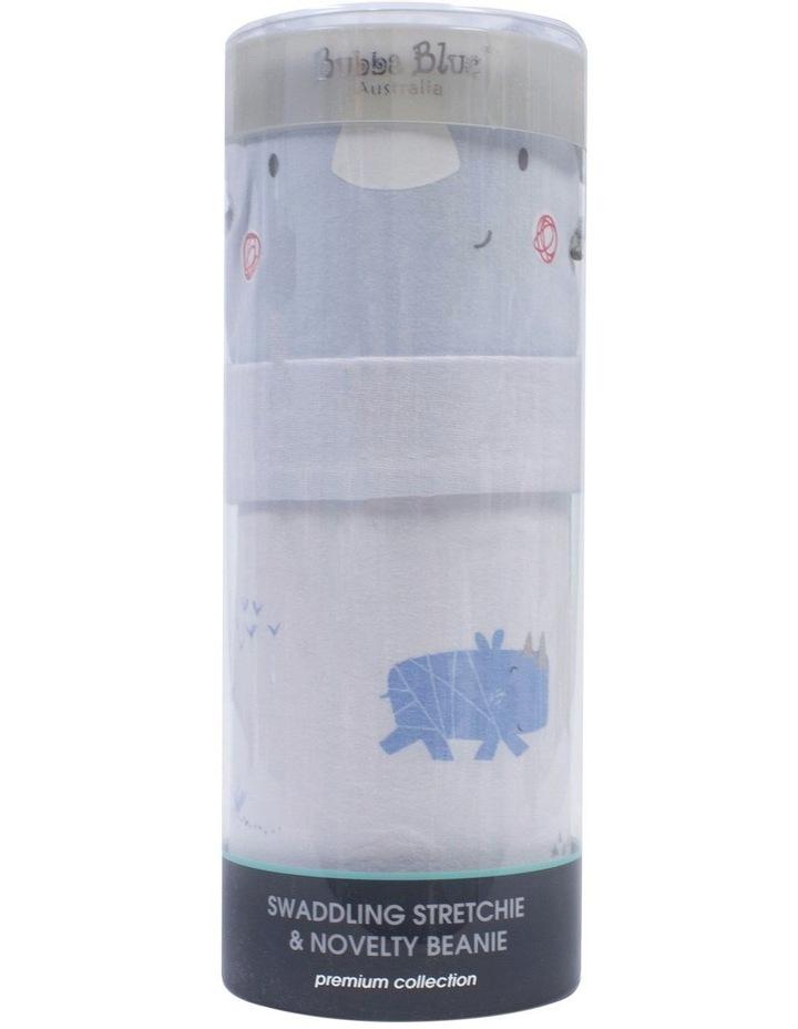 Rhino Run Swaddling Stretchie & Beanie Set image 1