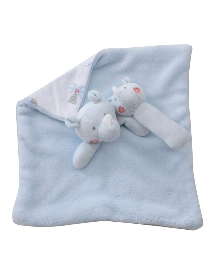 Rhino Run Security Blanket & Rattle Set image 4