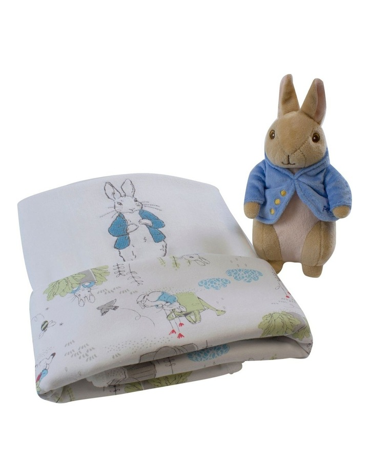 Peter Rabbit Baby Gift Set (contains: reversible Cuddle Blanket & Soft Toy) image 1
