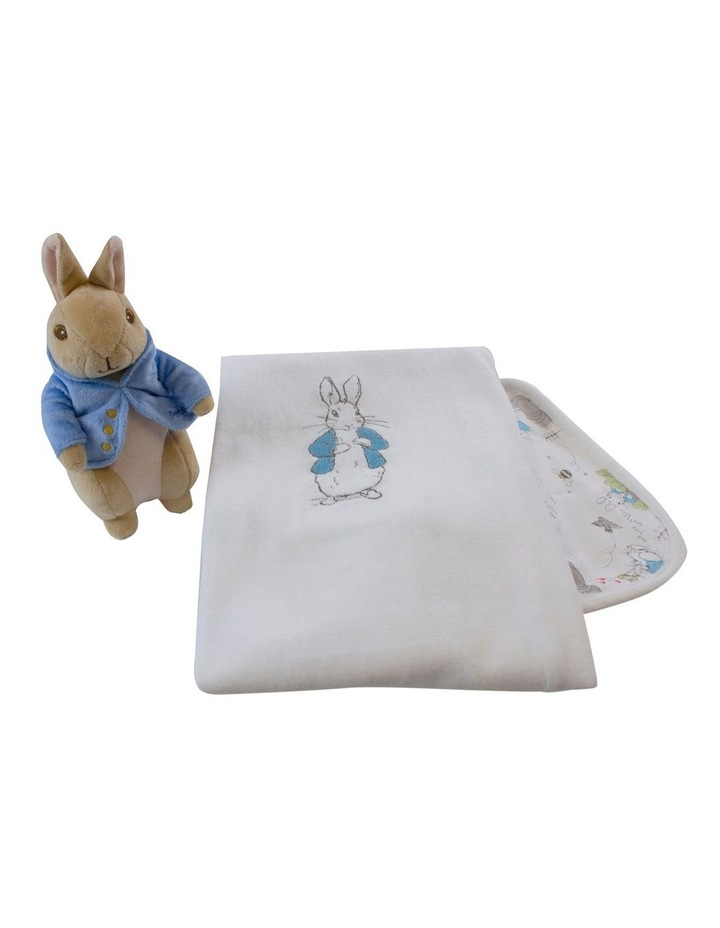 Peter Rabbit Baby Gift Set (contains: reversible Cuddle Blanket & Soft Toy) image 2