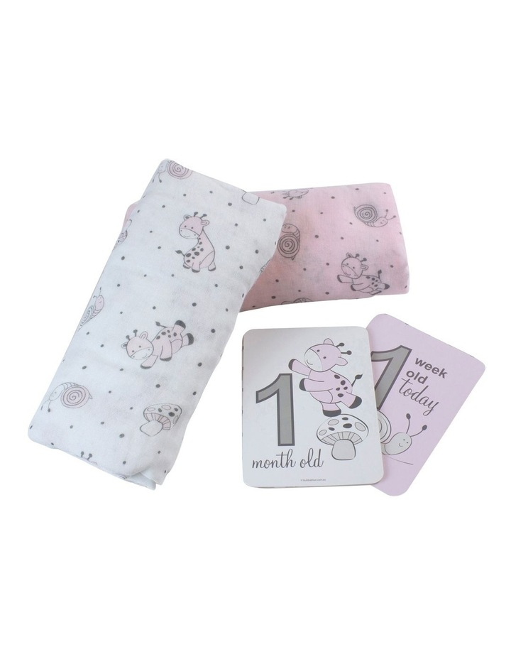 Playtime Muslin Wraps with Milestone Card 2pk image 2