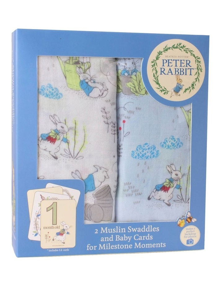 Adventures - 2 Muslin Swaddles and Milestone Card Set image 1