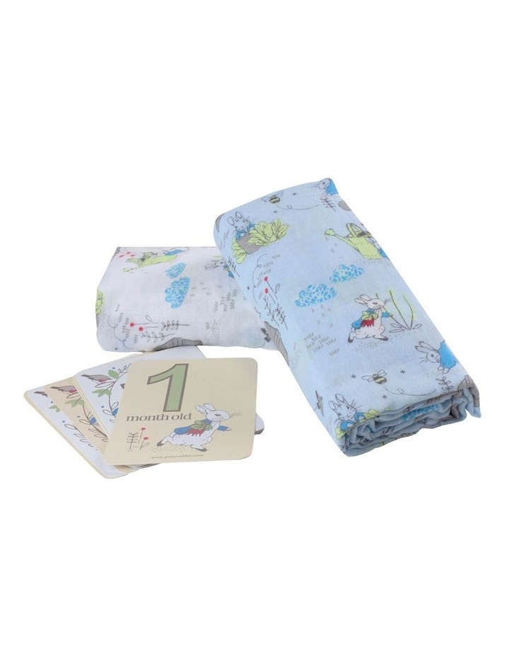 Adventures - 2 Muslin Swaddles and Milestone Card Set image 3
