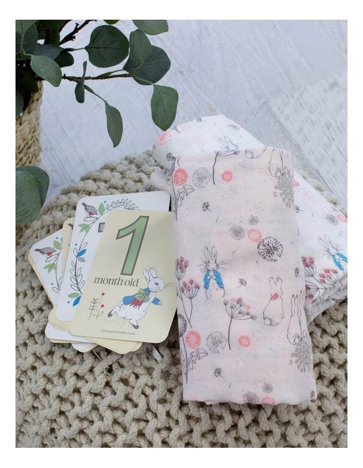 Dandelion Dream - 2 Muslin Wraps with Milestone Cards image 2