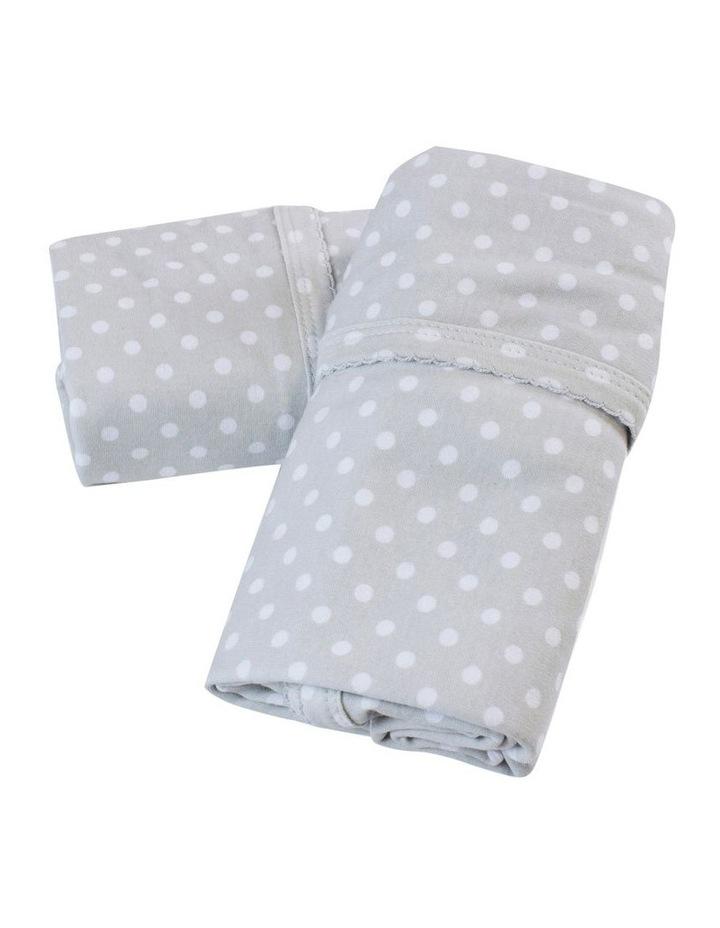 Polka Dots Grey 2pk Jersey Wraps image 1