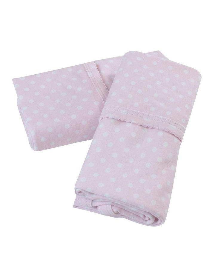 Polka Dots Pink 2 Pack Jersey Wraps image 2