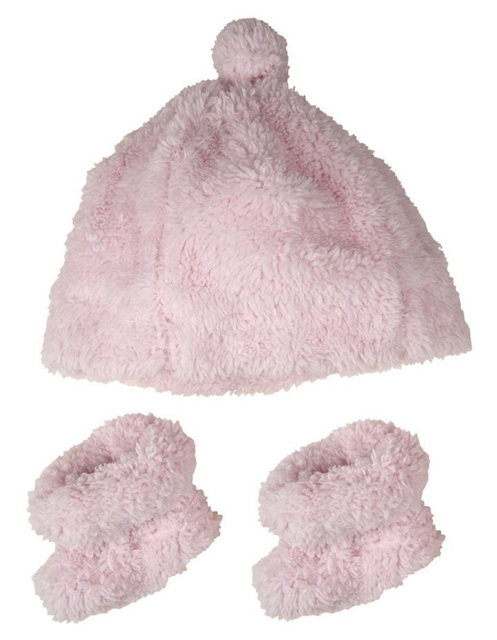 TLLC Sherpa Beanie   Bootie - Pastel Pink image 1