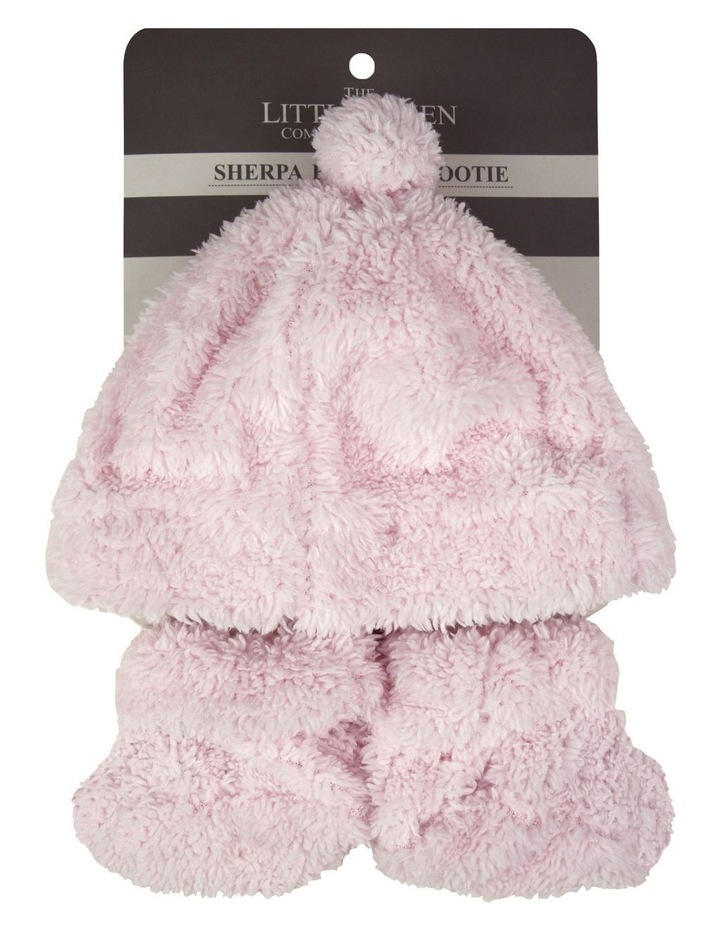 TLLC Sherpa Beanie   Bootie - Pastel Pink image 2
