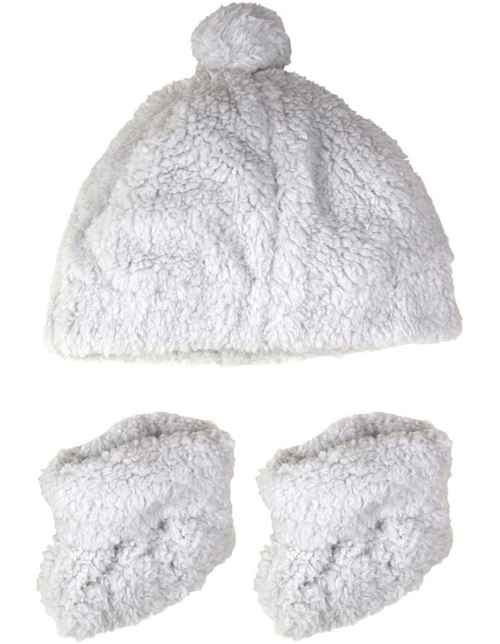 TLLC Sherpa Beanie   Bootie - Drizzle Grey image 1