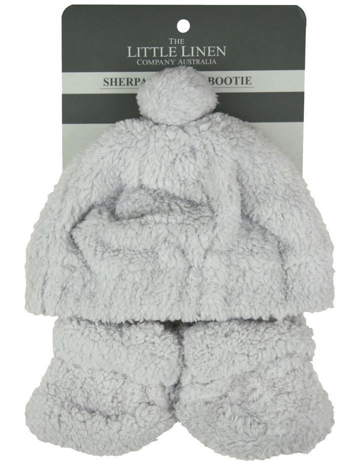Little Linen Sherpa Beanie   Bootie - Drizzle Grey image 2