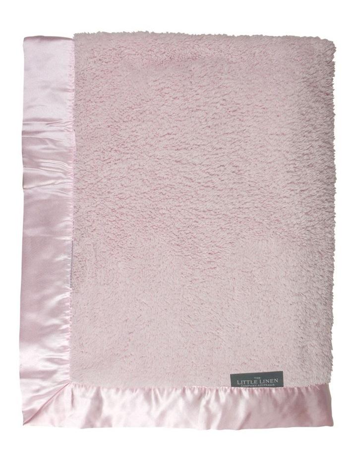 TLLC Sherpa Stroller Blanket - Pastel Pink image 2