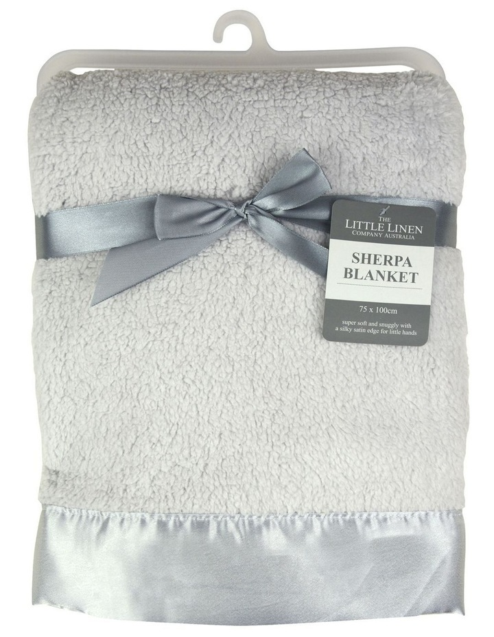 TLLC Sherpa Stroller Blanket - Drizzle Grey image 1