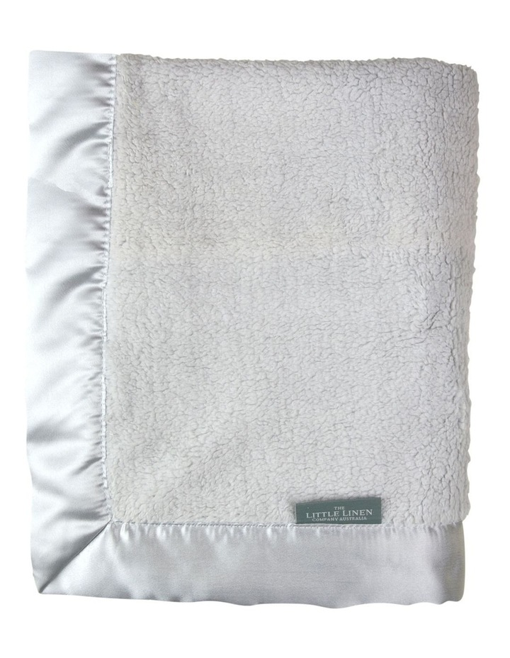 TLLC Sherpa Stroller Blanket - Drizzle Grey image 2